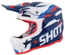 SHOT 2019 Score Blue Neon Orange Glossy Motocross Helmet